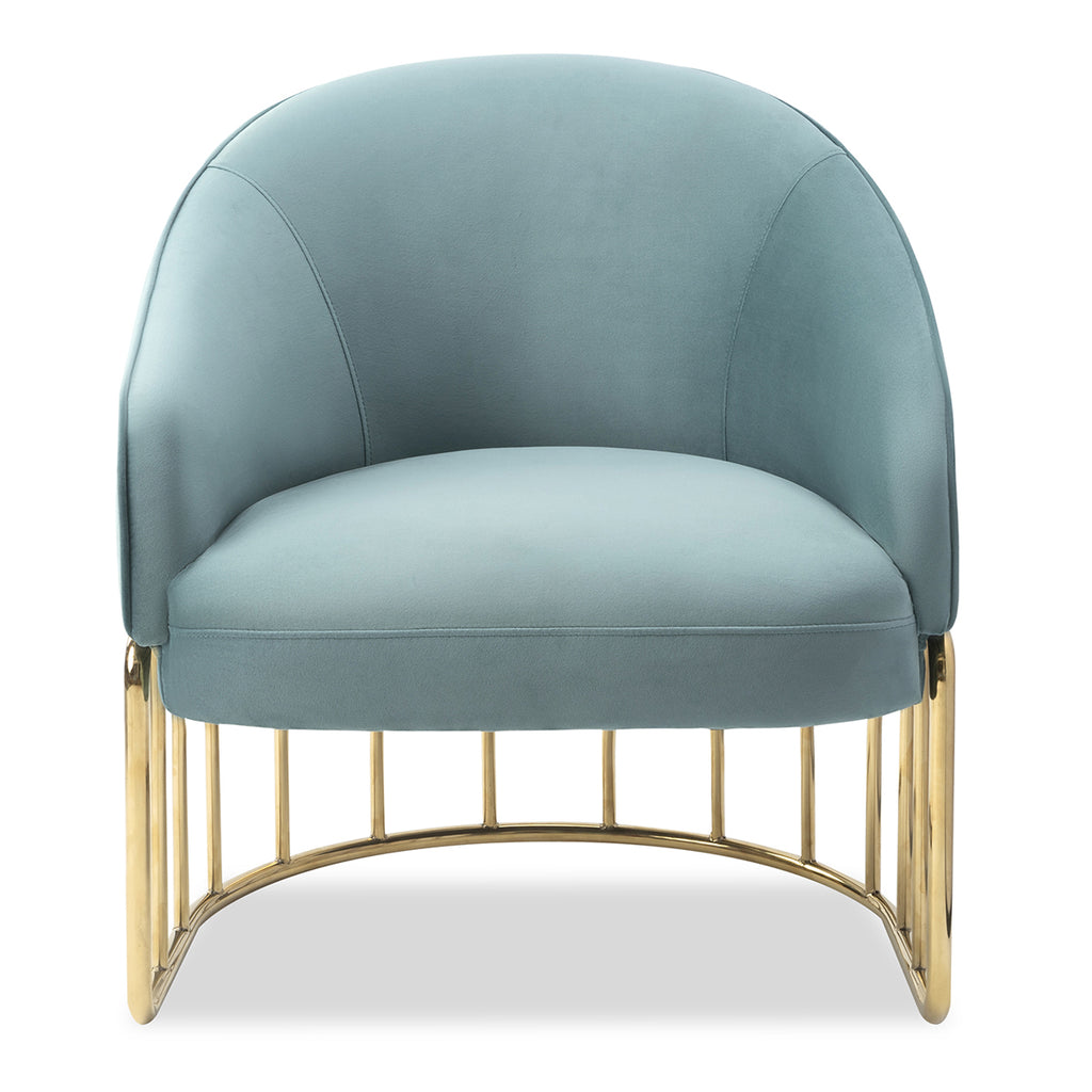Liang & Eimil Boston Occasional Chair in Deep Turquoise Velvet Fabric