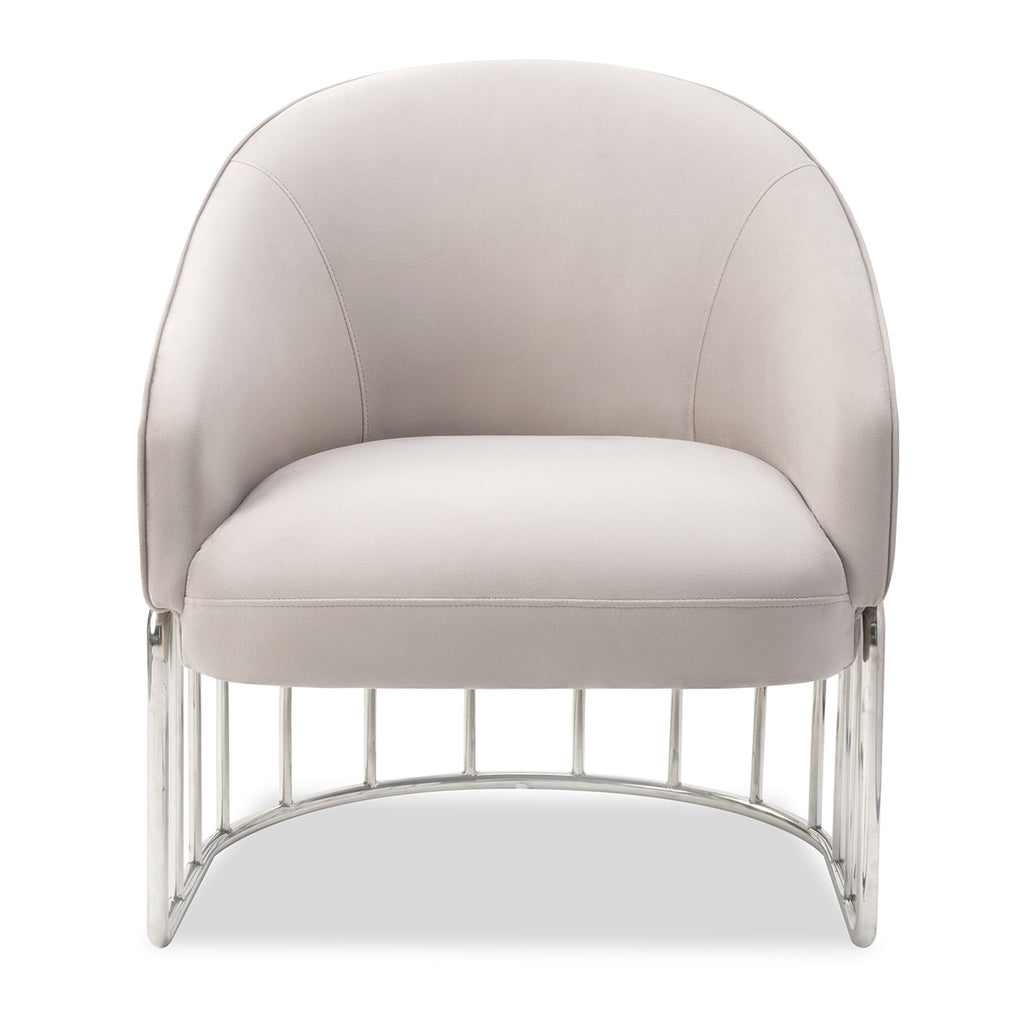 Liang & Eimil Boston Occasional Chair in Limestone Velvet Fabric