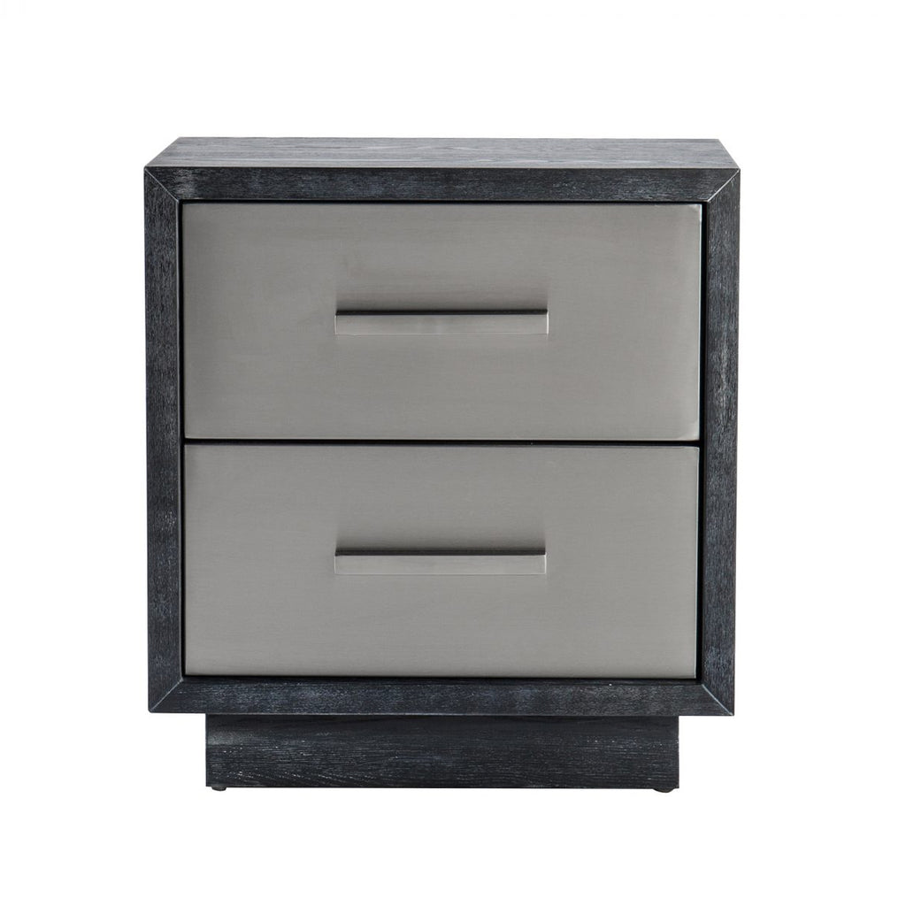 Liang & Eimil Camden Bedside Table in Stainless Steel