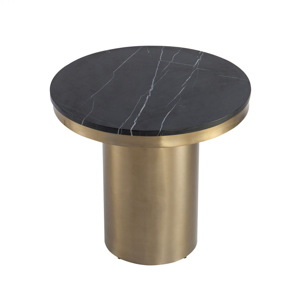 Liang & Eimil Camden Side Table in Black Marble & Brass
