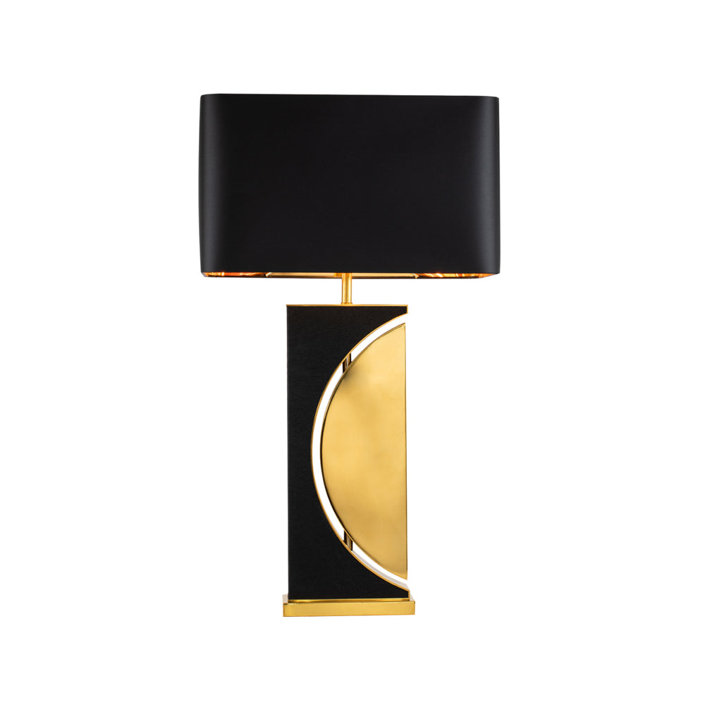 Liang & Eimil Carlton Table Lamp with Black Leather