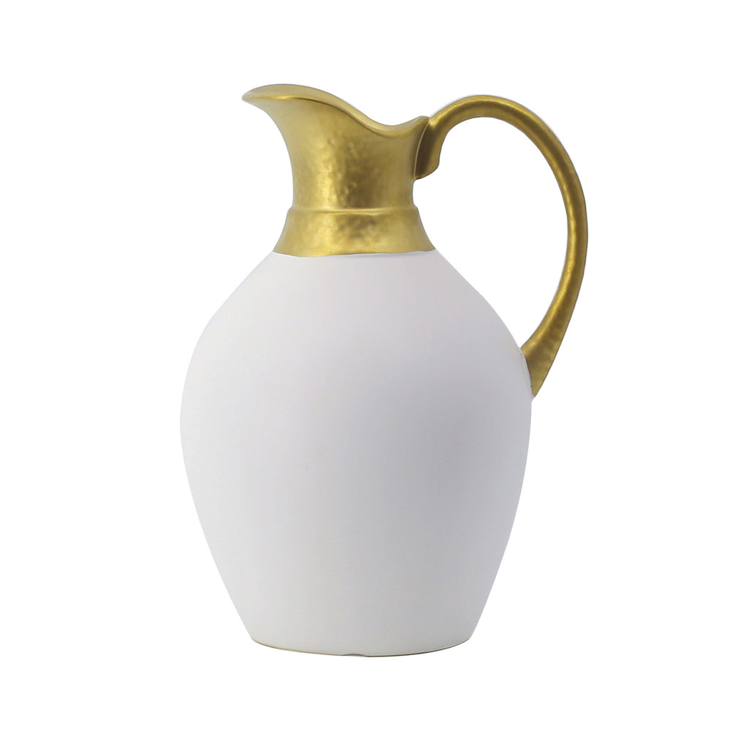 Liang & Eimil Ceramic Vase with Gold Detail