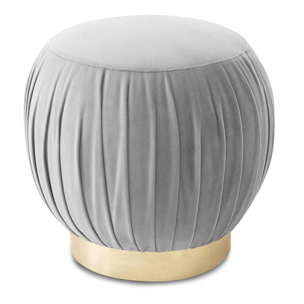 Liang & Eimil Charlie Stool in Horizon Grey Velvet