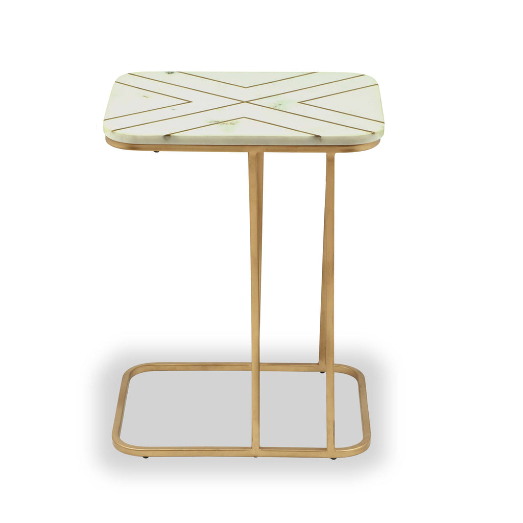 Liang & Eimil Coco Side Table with White Marble