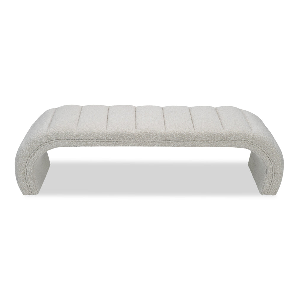 Liang & Eimil Coppola Bench with Boucle Sand Fabric
