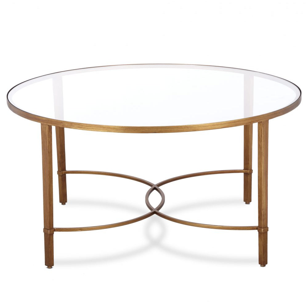 Liang & Eimil Cumberland Antiqued Gold Coffee Table