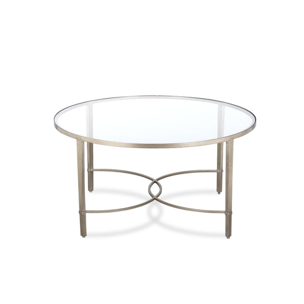 Liang eimil cumberland antiqued silver coffee table