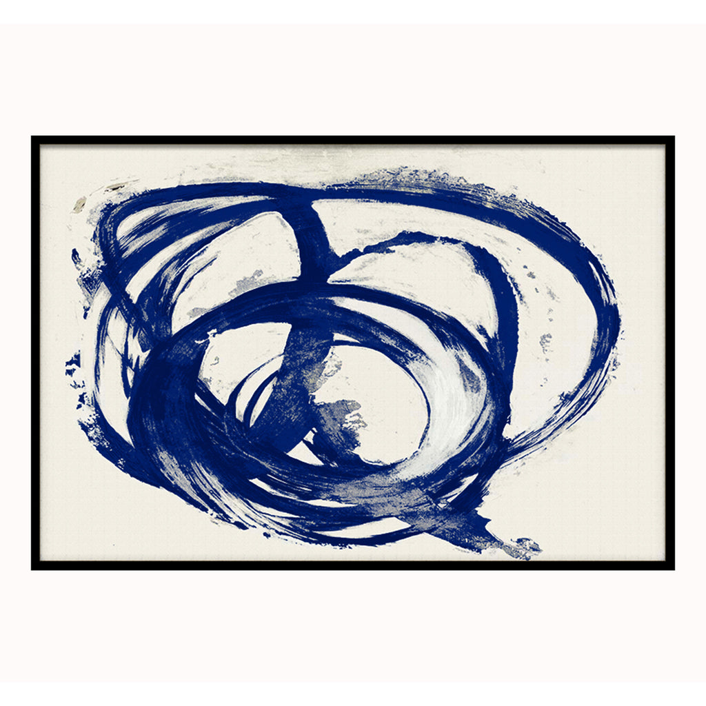 Liang & Eimil Decorative Print with Blue Swirl