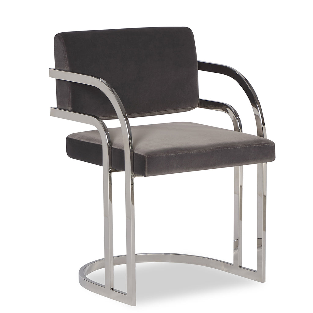 Liang & Eimil Dylan Dining Chair in Gainsborough Nickel Grey Velvet