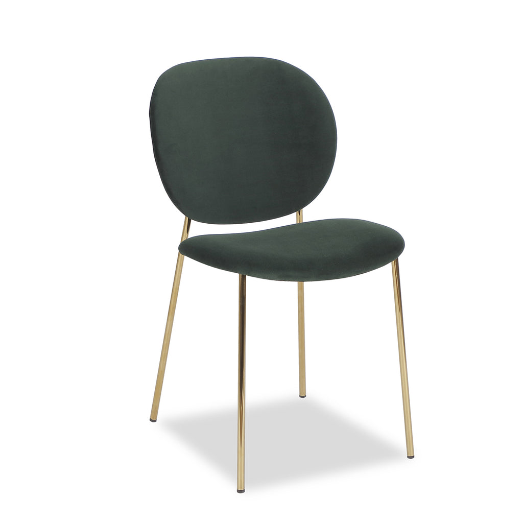 Liang & Eimil Elsa Chair with Kaster Castleton Green Velvet (Set of 2)