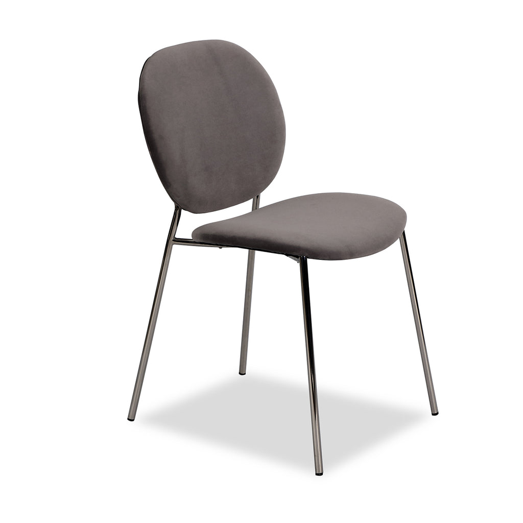 Liang & Eimil Elsa Chair with Kaster Horizon Grey Velvet (Set of 2)