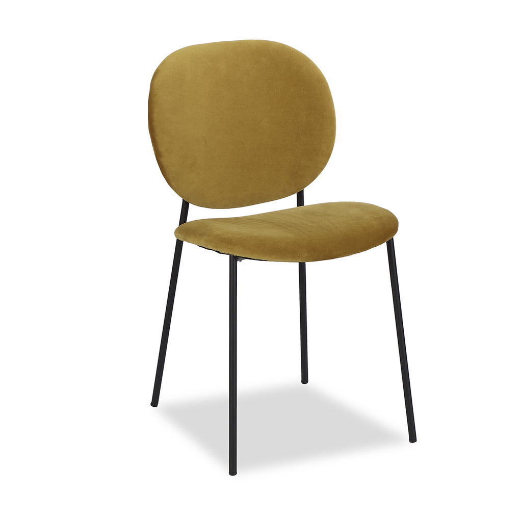 Liang & Eimil Elsa Chair with Kaster Mustard Velvet (Set of 2)