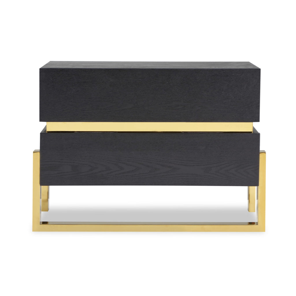 Liang & Eimil Enigma Bedside Table with Black Ash Veneer