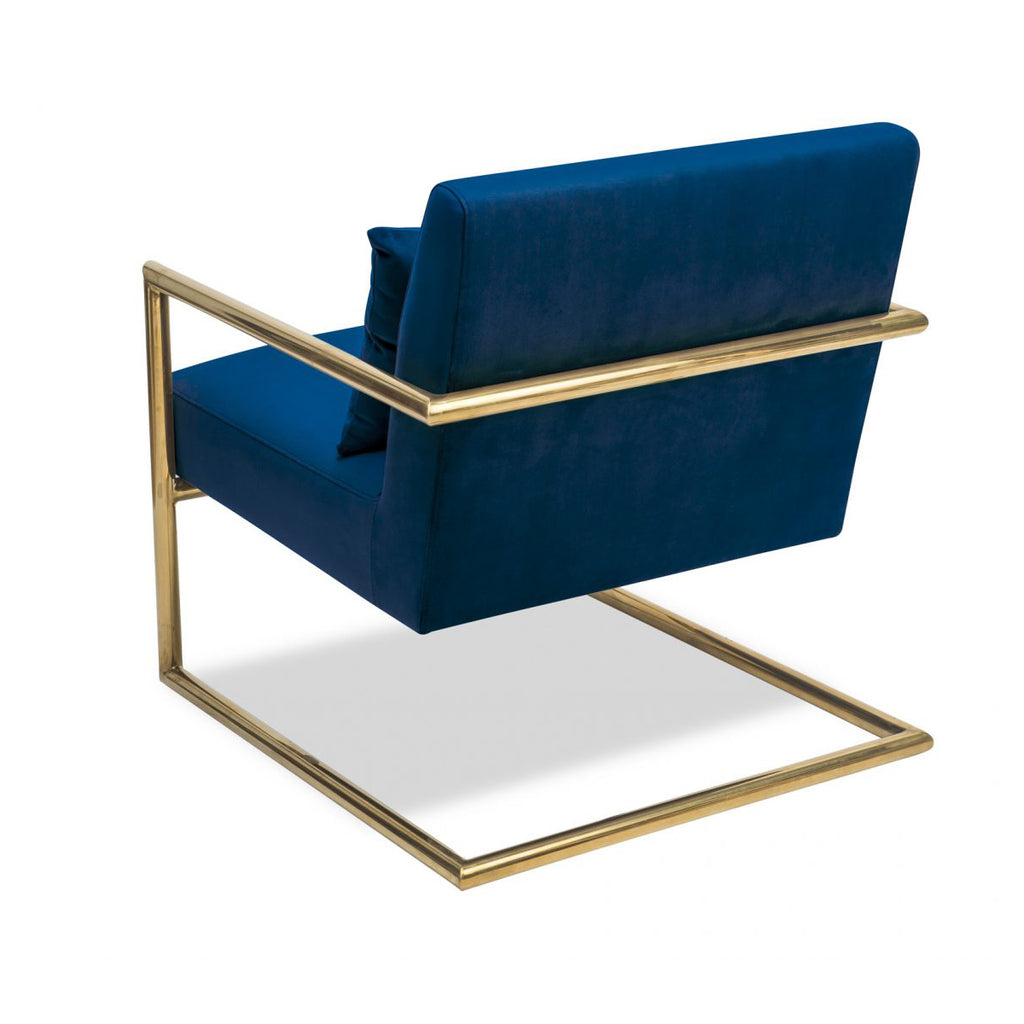 Liang & Eimil Enzo Occasional Chair in Marine Blue Velvet