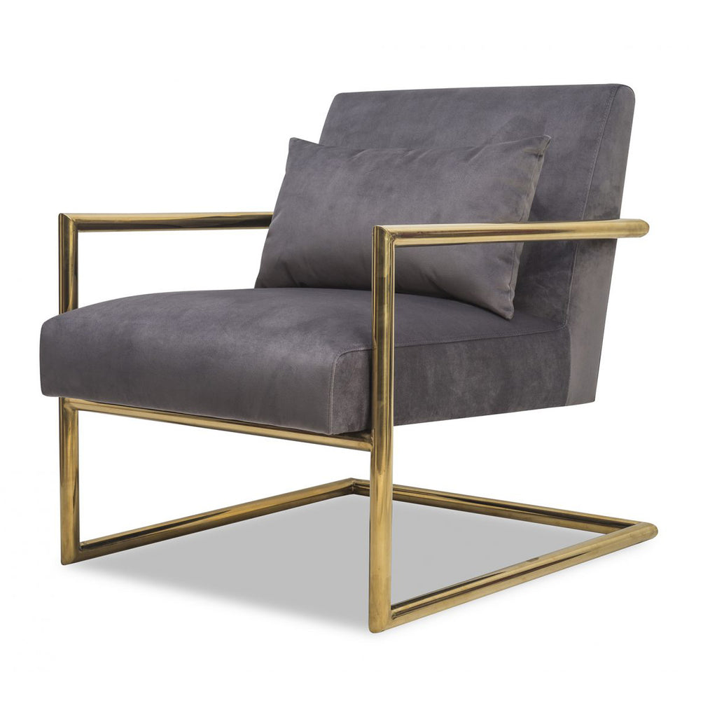 Liang & Eimil Enzo Occasional Chair in Night Grey Velvet