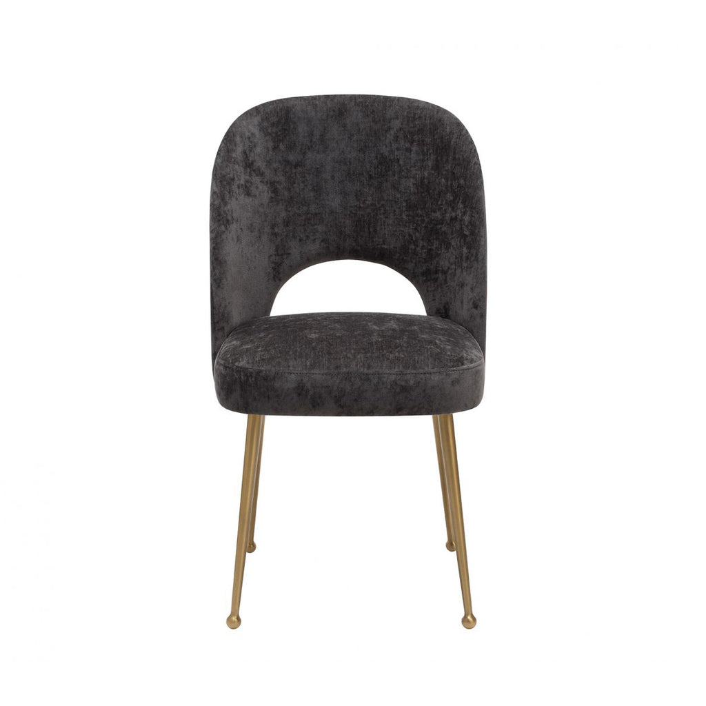 Liang & Eimil Erin Dining Chair in Black Linen