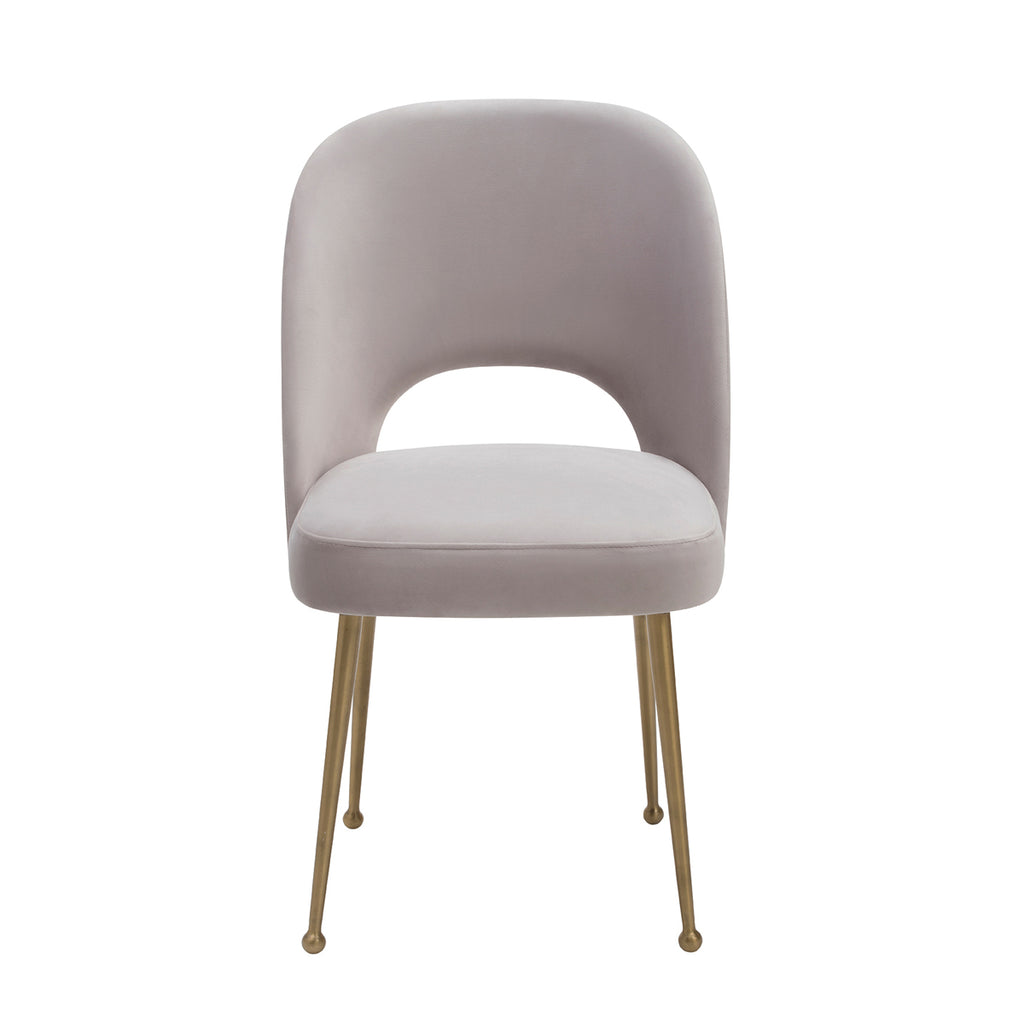 Liang & Eimil Erin Dining Chair with Limestone Velvet and Brass