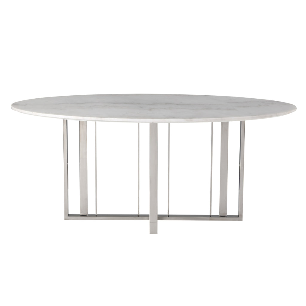 Liang & Eimil Fenty Dining Table in Polished Stainless Steel