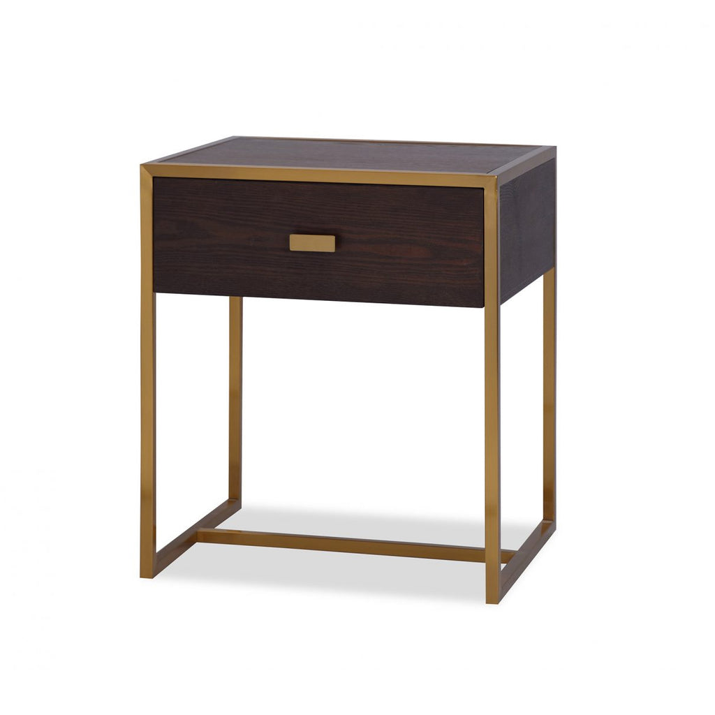 Liang & Eimil Holman Bedside Table in Chocolate & Gold