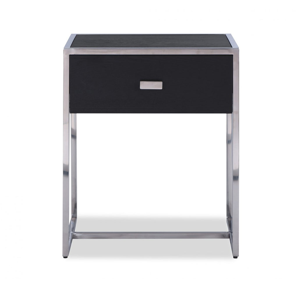 Liang & Eimil Holman Bedside Table in Wenge & Silver