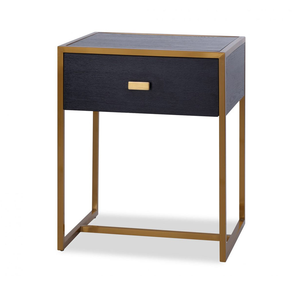 Liang & Eimil Holman Bedside Table in Wenge & Gold