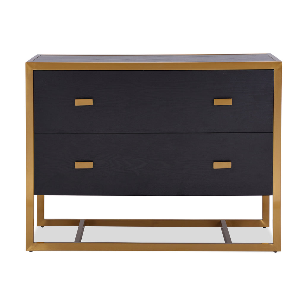 Liang & Eimil Holman Chest of Drawers with Black Ash Veneer and Brushed Brass