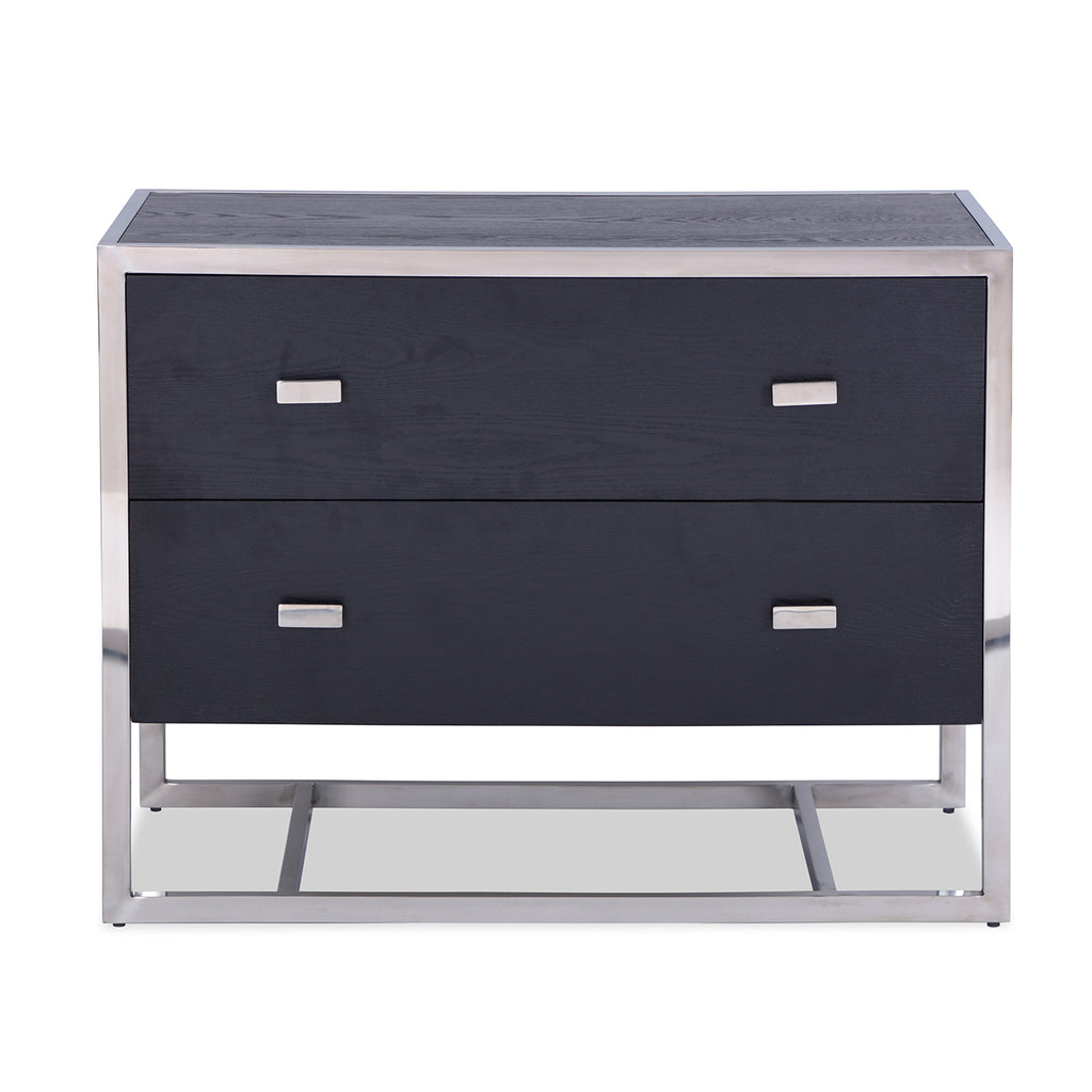 Liang & Eimil Holman Chest of Drawers with Black Ash Veneer and Stainless Steel