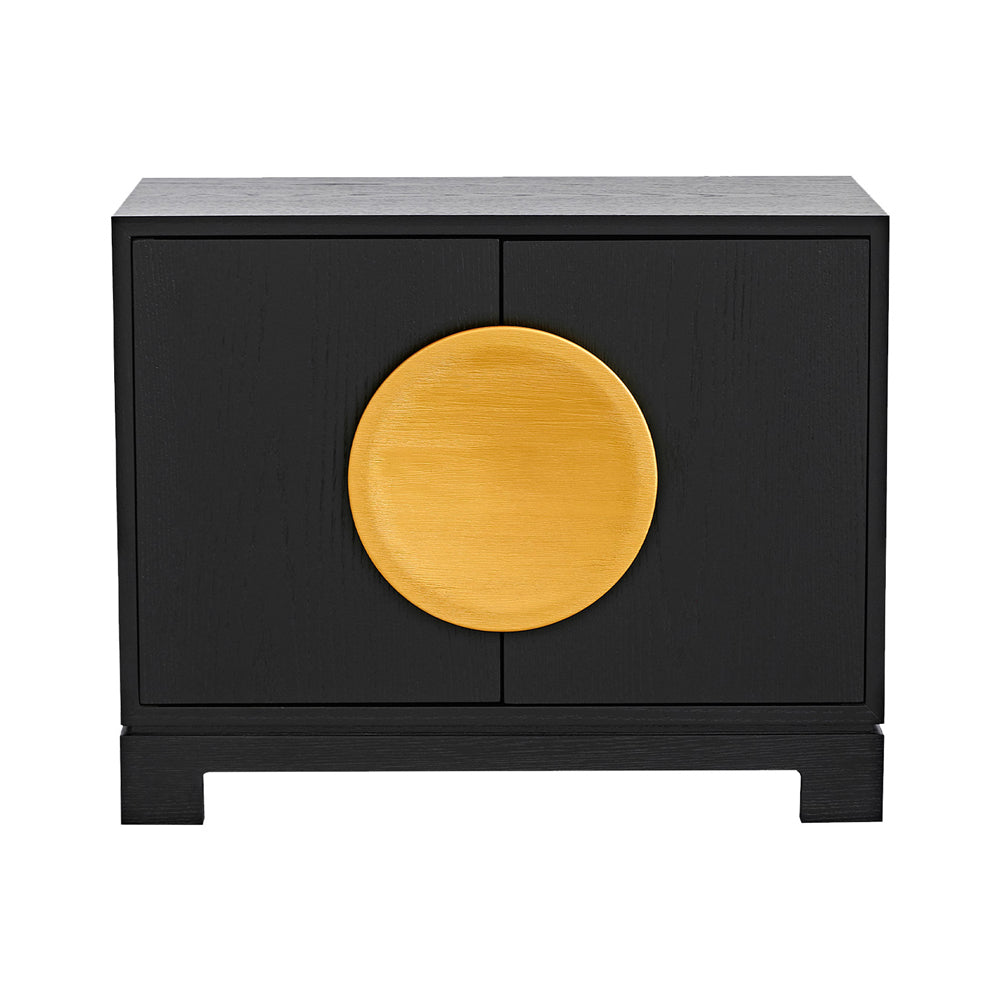 Liang & Eimil Hoxton Bedside Table with Wenge Oak and Crown Oak Veneer