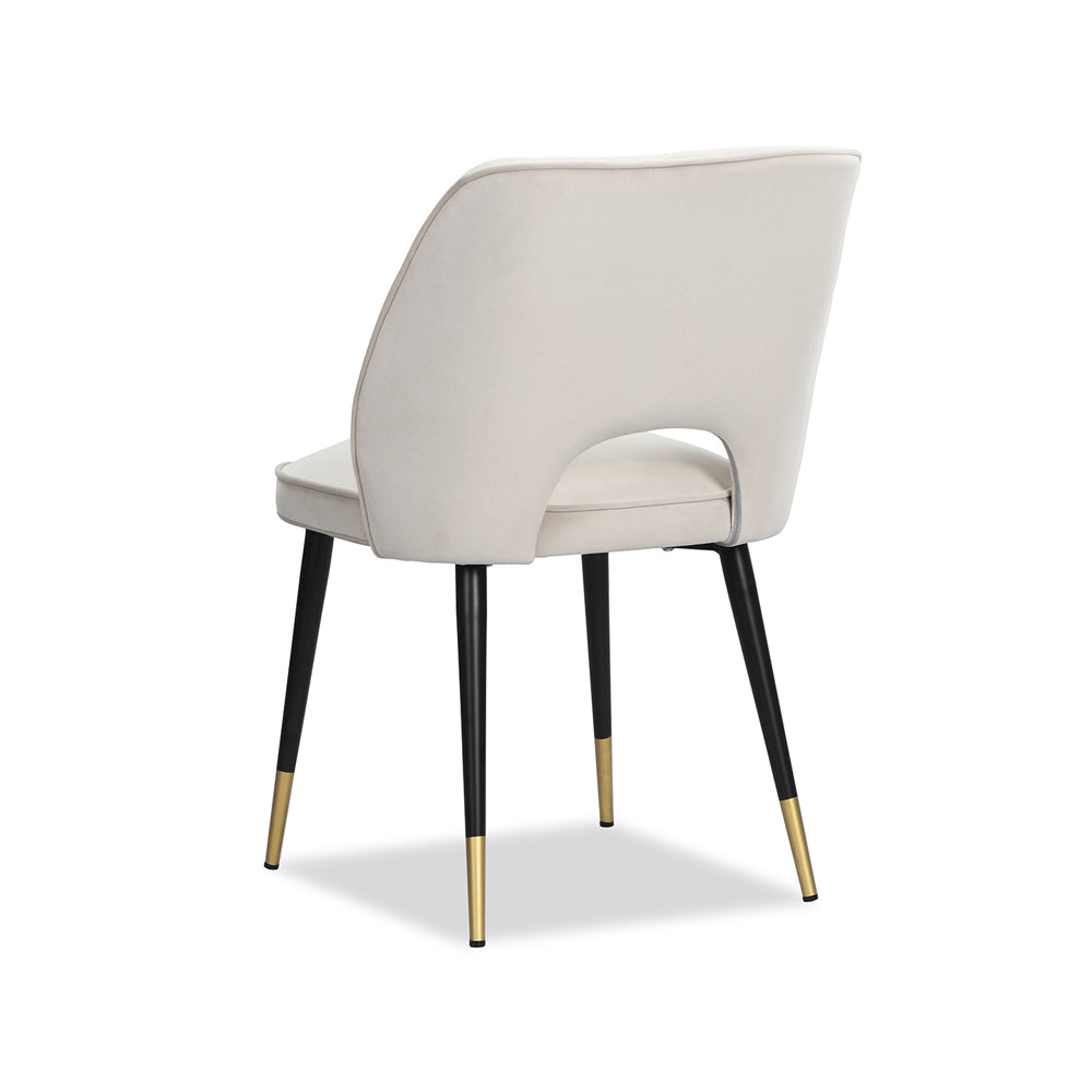 Liang & Eimil Jagger Dining Chair with Kaster Pebble Velvet (Set of 2)