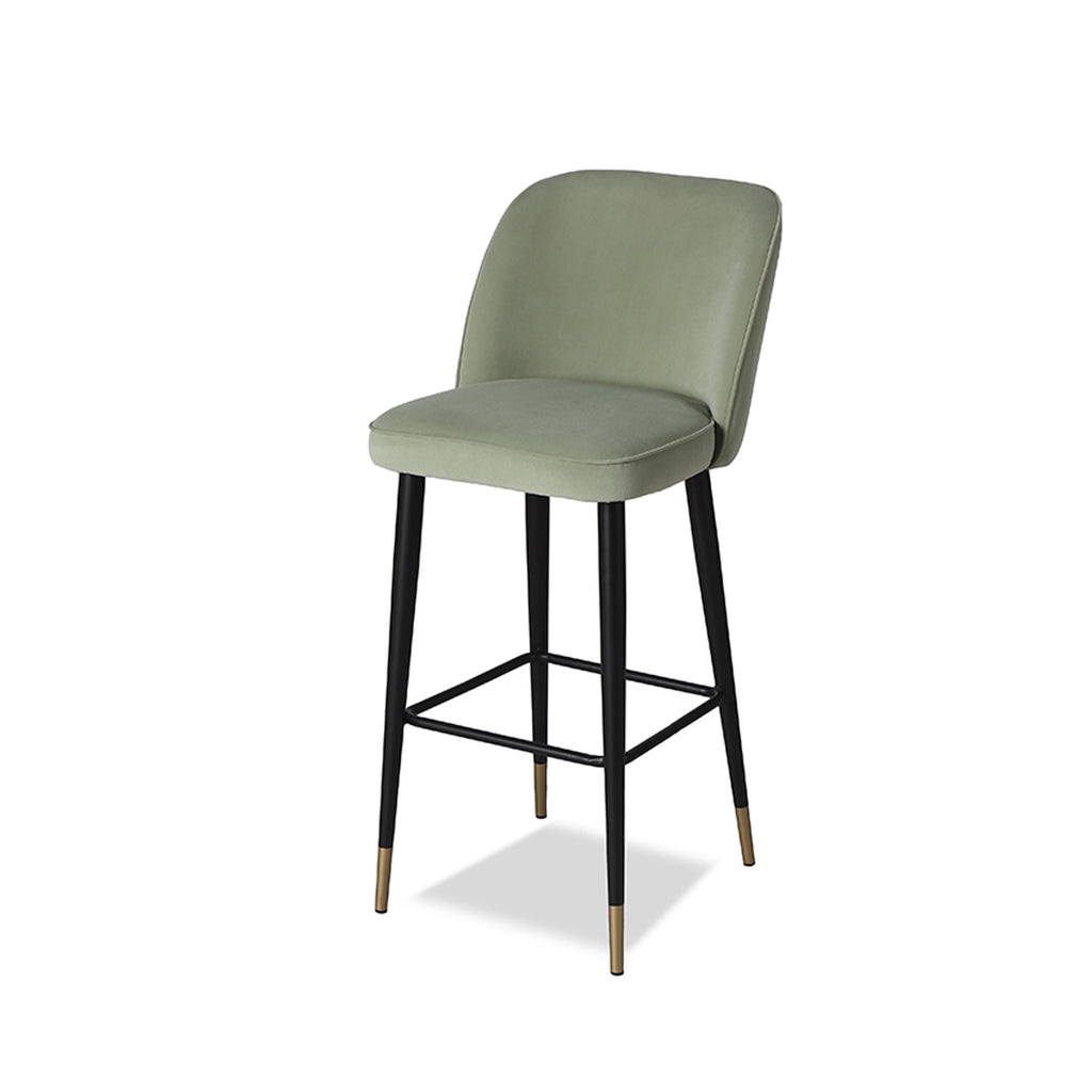 Liang & Eimil Jersey Bar Stool with Toscana Aqua Velvet