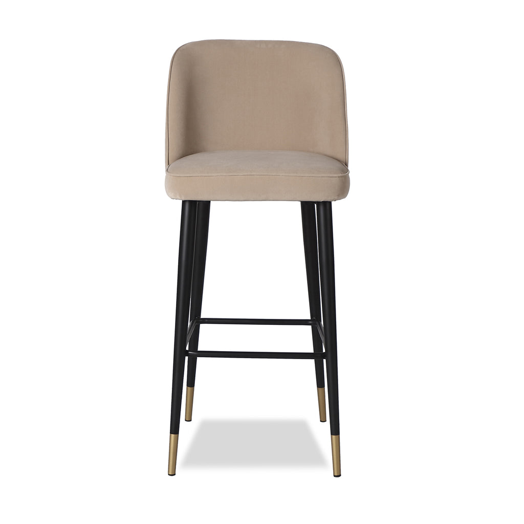 Liang & Eimil Jersey Bar Stool with Toscana Latte Velvet