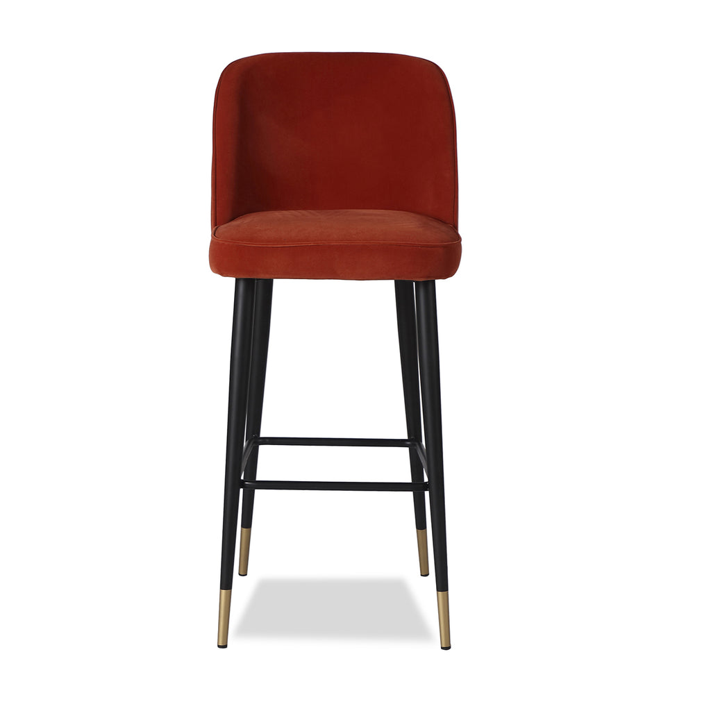 Liang & Eimil Jersey Bar Stool with Toscana Rubi Velvet