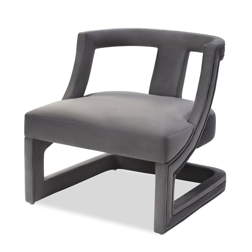 Liang & Eimil Jimi Occasional Chair in Night Grey Velvet