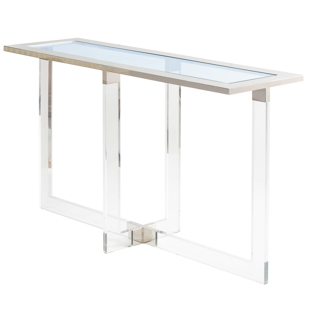 Liang & Eimil Kensington Console Table with Clear Glass