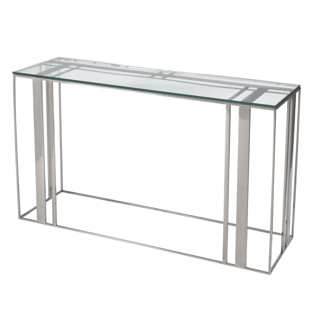 Liang & Eimil Lafayette Console Table in Polished Stainless Steel