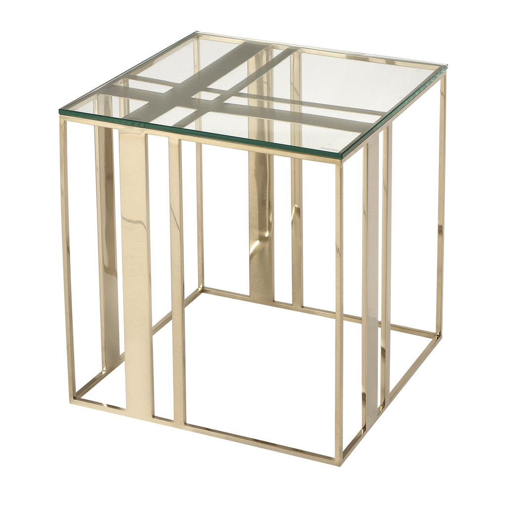 Liang & Eimil Lafayette Side Table in Polished Brass
