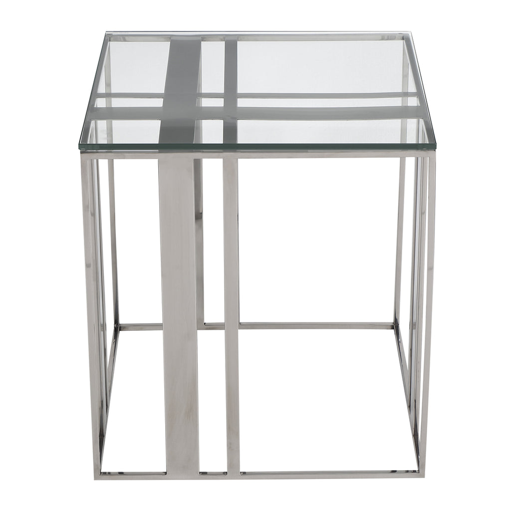 Liang & Eimil Lafayette Side Table in Polished Stainless Steel