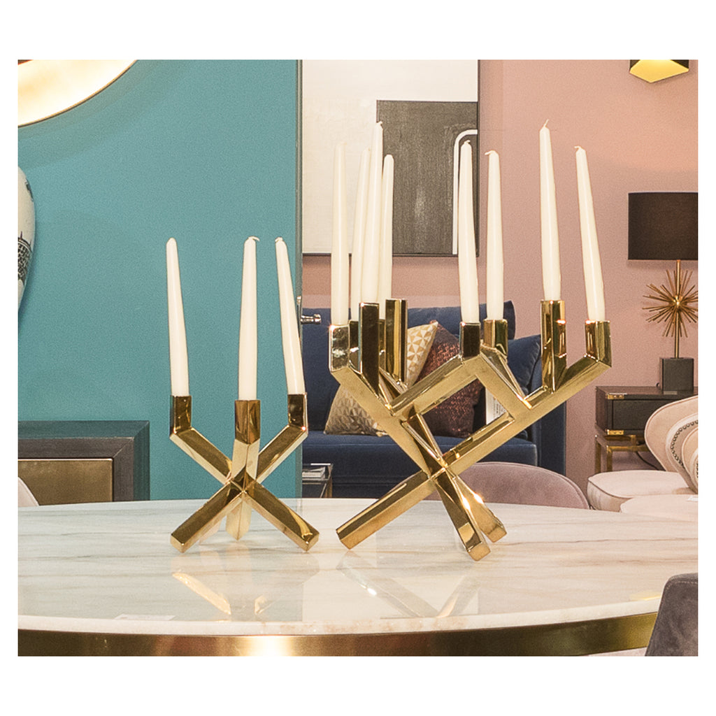 Liang & Eimil Small Gold Candle Holder
