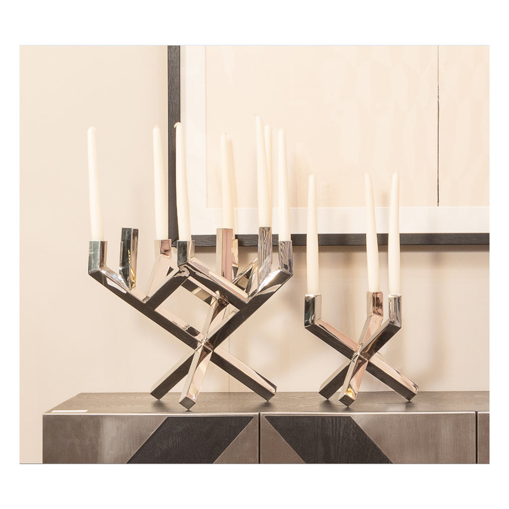 Liang & Eimil Large Silver Candle Holder