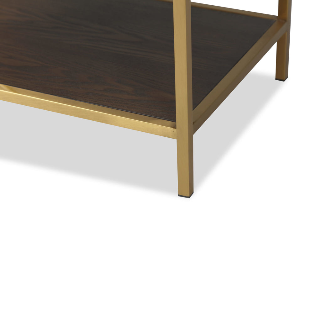 Liang & Eimil Levi Gold & Brown Bedside Table