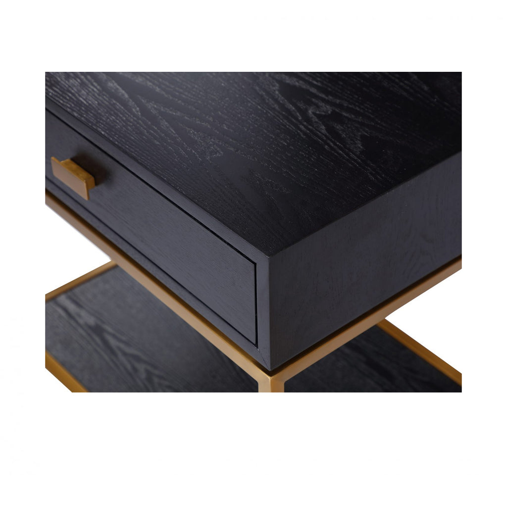 Liang & Eimil Levi Gold & Wenge Bedside Table