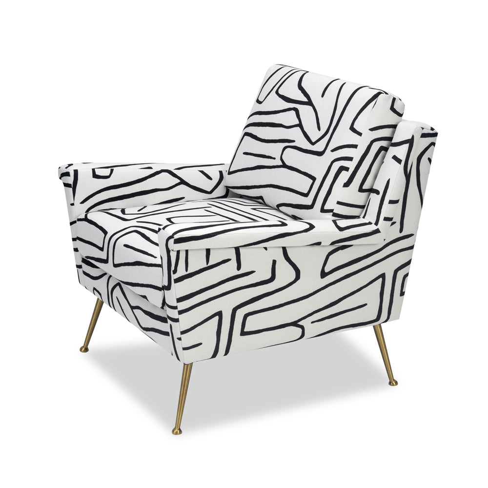 Liang & Eimil Lidmar Occasional Chair with Zebra Black and White Linen