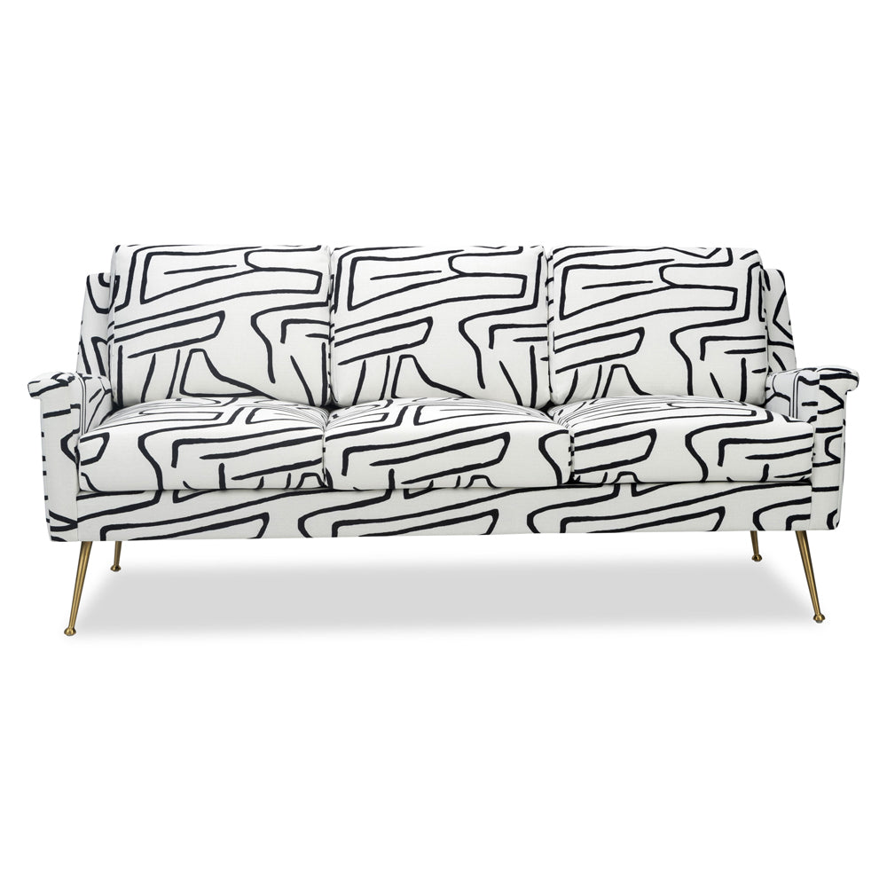 Liang & Eimil Lidmar Sofa with Zebra Black and White Linen