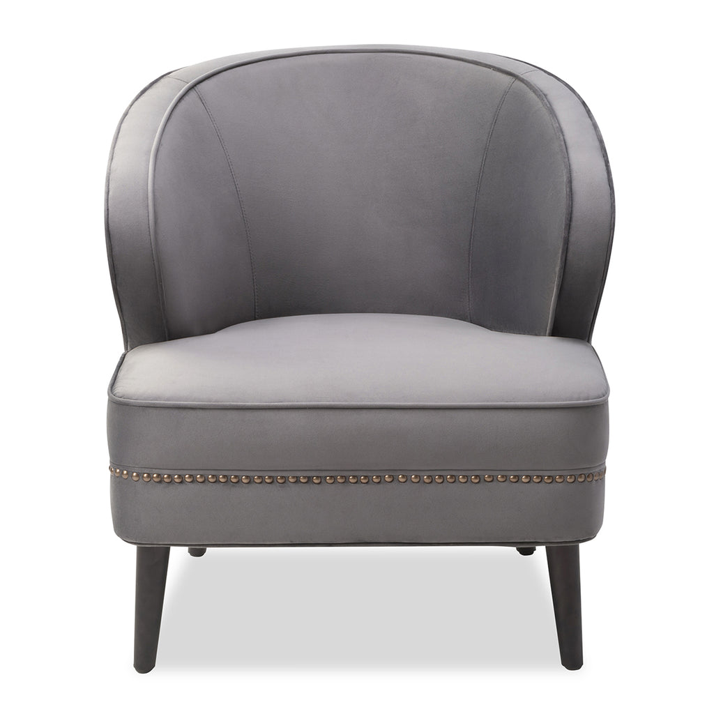 Liang & Eimil Lindsay Occasional Chair In Night Grey Fabric