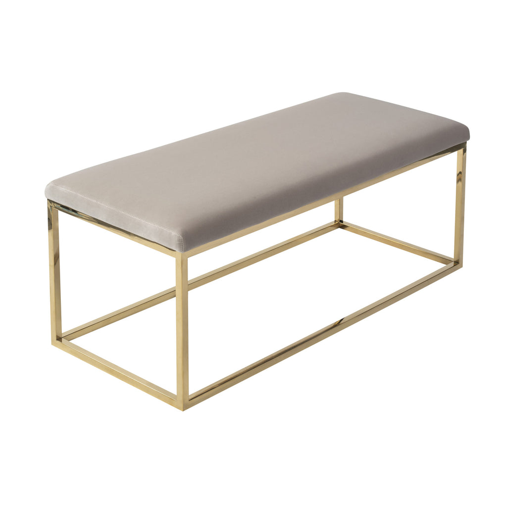 Liang & Eimil Loft Bench Gainsborough Limestone Velvet