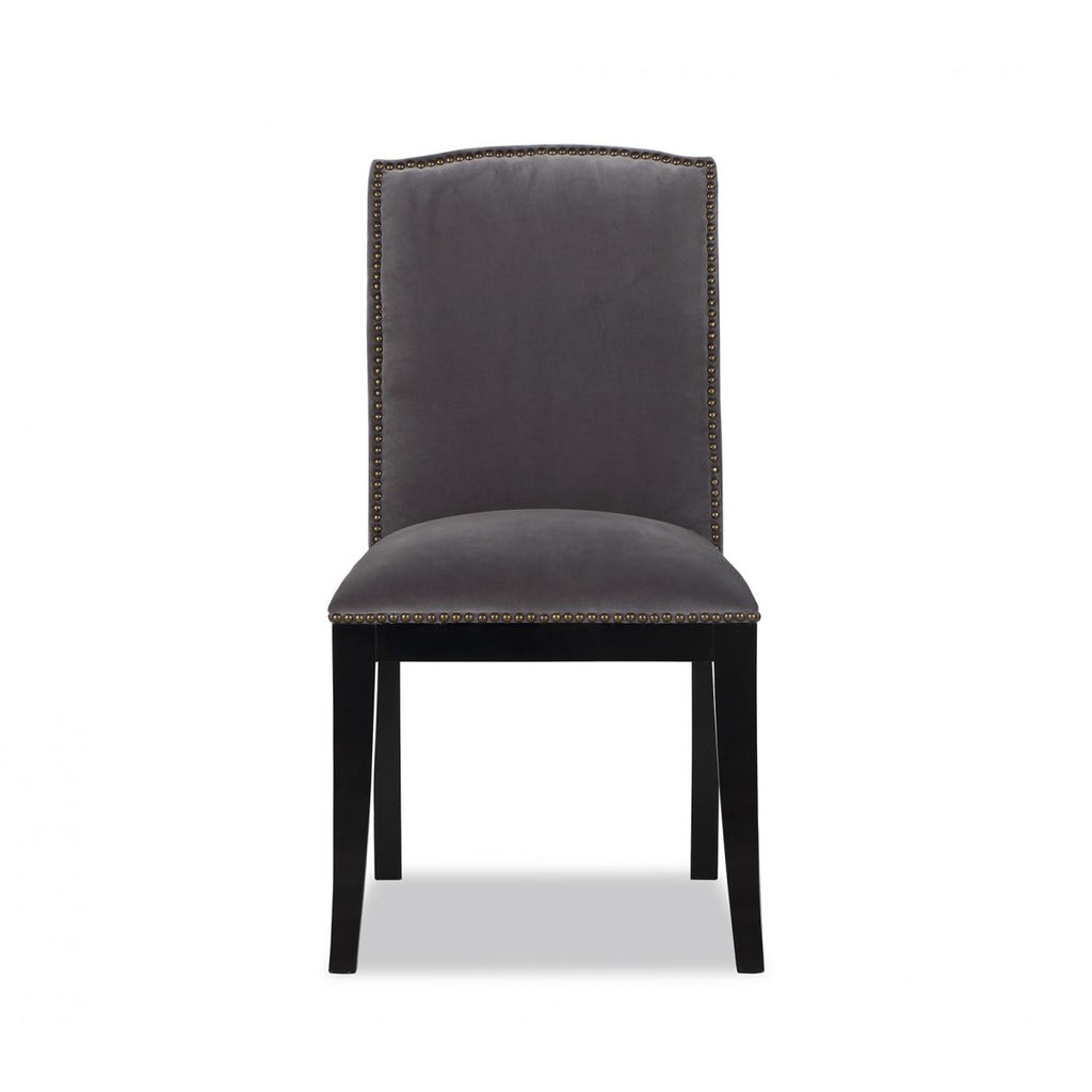 Liang & Eimil Maple Dining Chair in Ash Grey Velvet
