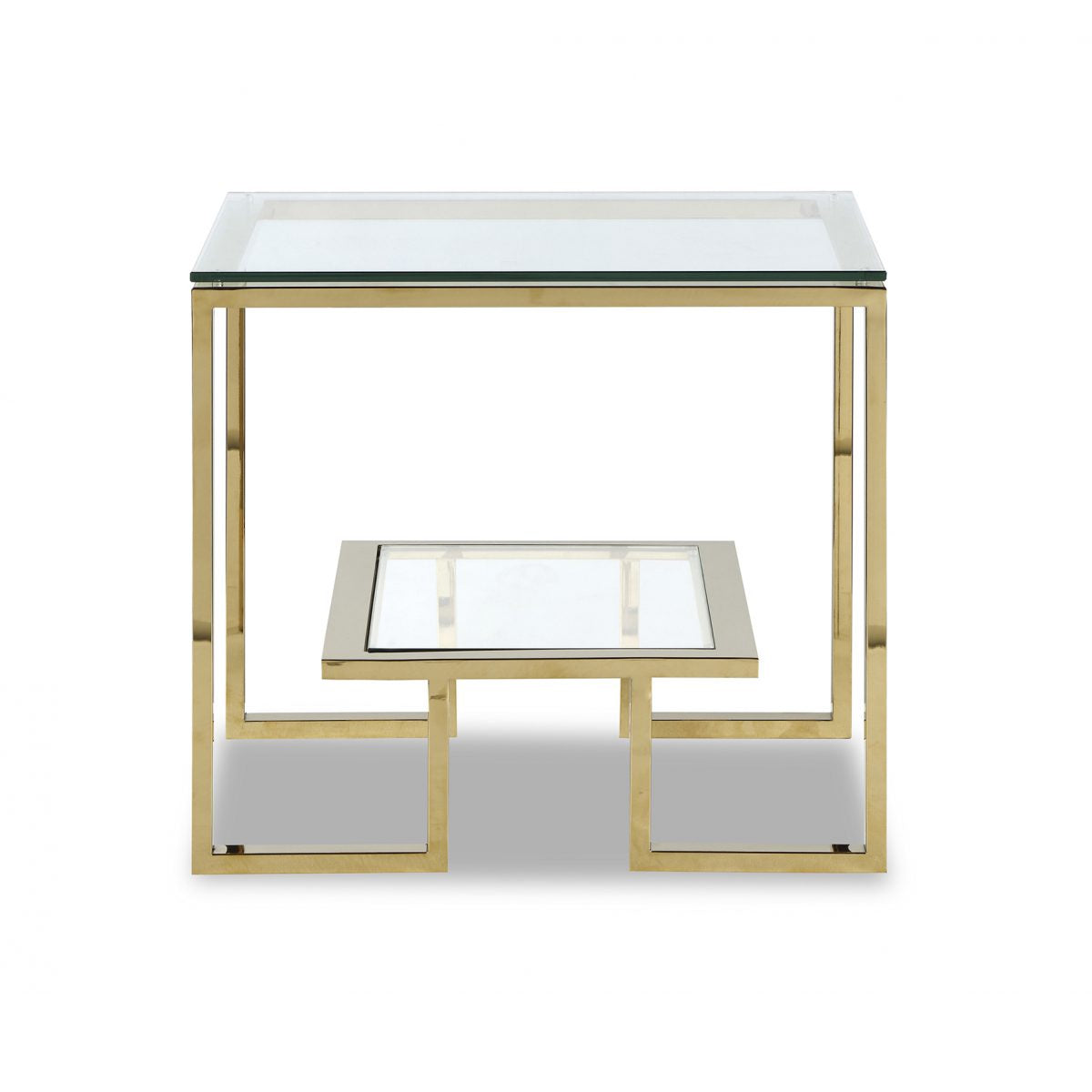 Liang Eimil Mayfair Gold Glass Side Table Shropshire Design