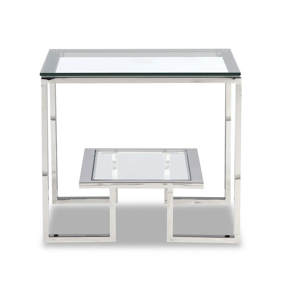 Liang & Eimil Mayfair Silver & Glass Side Table