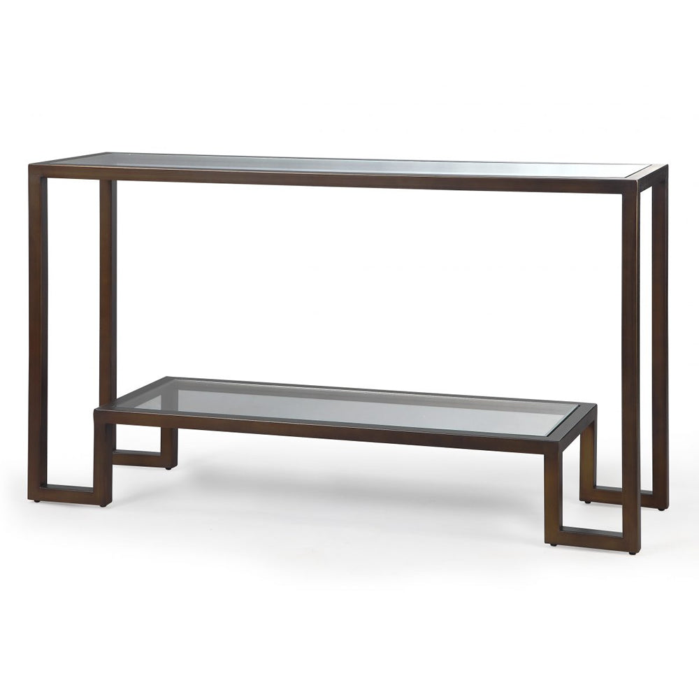 Liang & Eimil Ming Bronze & Glass Console Table