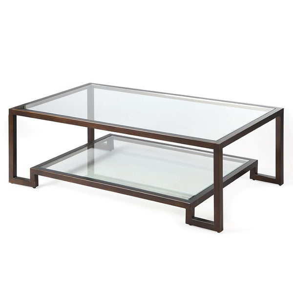Liang & Eimil Ming Bronze & Glass Coffee Table